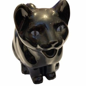 VTG Black Panther Kitten Creamer Ceramic